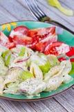 Creamy Pasta Salad Royalty Free Stock Photography