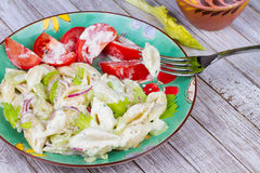 Creamy Pasta Salad Stock Images