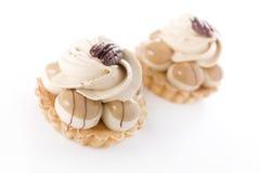 Creamy Pastries with Pecan Stock Image