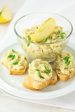 Creamy pate served with french bread Royalty Free Stock Photo