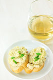 Creamy pate served with french bread Royalty Free Stock Photography