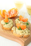 Creamy pate served with french bread Royalty Free Stock Image