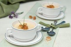 Creamy pea soupe Stock Image