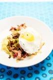 Creamy polenta with shiitake stew Stock Photo