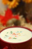 Creamy Potato Vegetable Soup Stock Photo