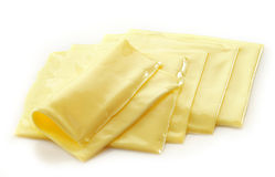 Creamy processed cheese slices Stock Photography