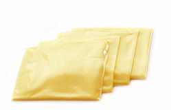 Creamy processed cheese slices Stock Image