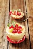 Creamy pudding desserts Stock Photo