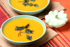 Creamy pumpkin soup Royalty Free Stock Photo