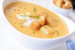 Creamy pumpkin soup Royalty Free Stock Photos