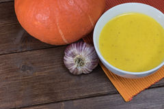 Creamy pumpkin soup Royalty Free Stock Images