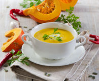 Creamy pumpkin soup Royalty Free Stock Photos