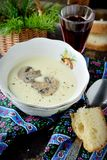 Creamy puree soup with mushrooms Stock Photography