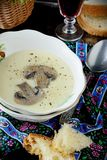 Creamy puree soup with mushrooms Royalty Free Stock Photo
