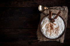 Creamy rice pudding Stock Images