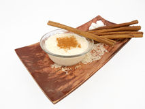 Creamy Rice Pudding With Cinnamon Stock Photography