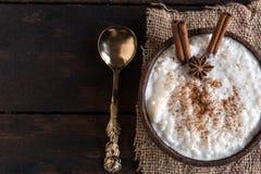 Creamy rice pudding Stock Photos