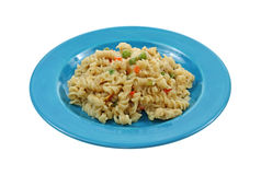 Creamy Rotini and Vegetables Royalty Free Stock Images