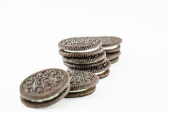 Creamy sadwich biscuit Royalty Free Stock Image