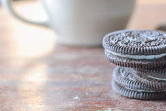 Creamy sadwich biscuit Royalty Free Stock Photography