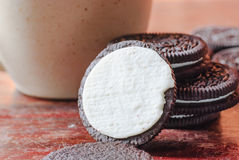 Creamy sadwich biscuit Royalty Free Stock Photo