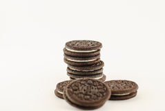 Creamy sadwich biscuit Royalty Free Stock Images