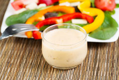 Creamy Salad Dressing Royalty Free Stock Images