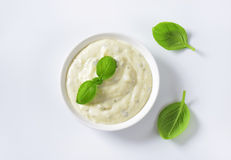 Creamy salad dressing Royalty Free Stock Photos