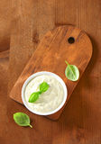 Creamy salad dressing Royalty Free Stock Photo