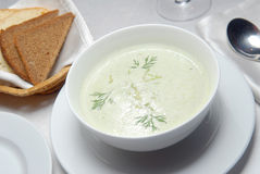 Creamy soup from an asparagus Royalty Free Stock Image