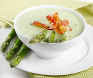 Creamy soup with asparagus Royalty Free Stock Images