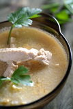 Creamy soup with chicken Stock Photos