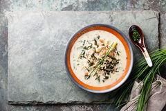 Creamy soup with Eel Stock Photography