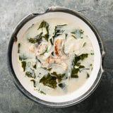 Creamy soup with Eel Stock Photo