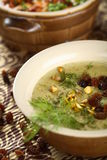 Creamy soup made from carp royalty free stock photography