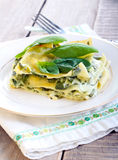 Creamy spinach lasagna Royalty Free Stock Photography