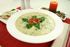 Creamy Spinach Soup Royalty Free Stock Image