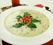 Creamy Spinach Soup Royalty Free Stock Photos