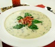Creamy Spinach Soup Royalty Free Stock Photos