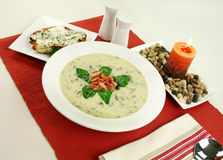 Creamy Spinach Soup Royalty Free Stock Photography