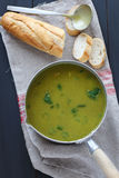 Creamy spinach soup Stock Photos
