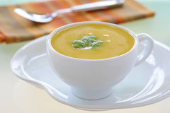 Creamy Squash Soup Royalty Free Stock Images