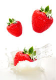 Creamy strawberry Royalty Free Stock Images