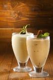 Creamy thick milkshakes or pudding Royalty Free Stock Photos