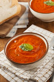 Creamy Tomato Basil Bisque Soup Royalty Free Stock Photos