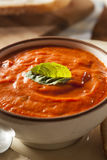 Creamy Tomato Basil Bisque Soup Royalty Free Stock Image