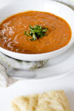 Tomato Basil Soup Stock Photography