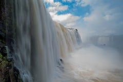 Creamy torrent of water at Iguazu Falls Stock Photography