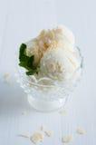 Creamy vanilla ice cream Stock Photos