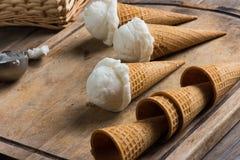 Creamy vanilla ice cream Stock Image